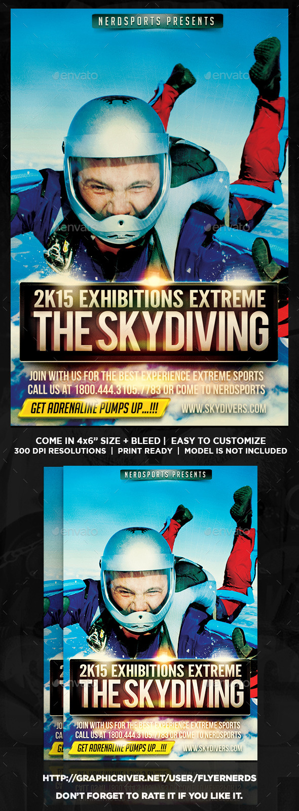 GraphicRiver Skydiving Sports Flyer 10332386