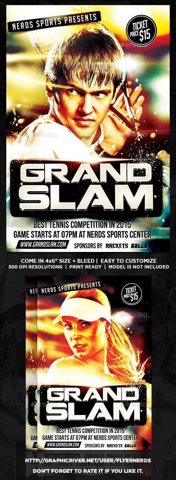 GraphicRiver Grand Slam Tennis Sports Flyer 10332388