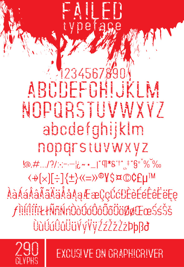 GraphicRiver Failed Font 10332583