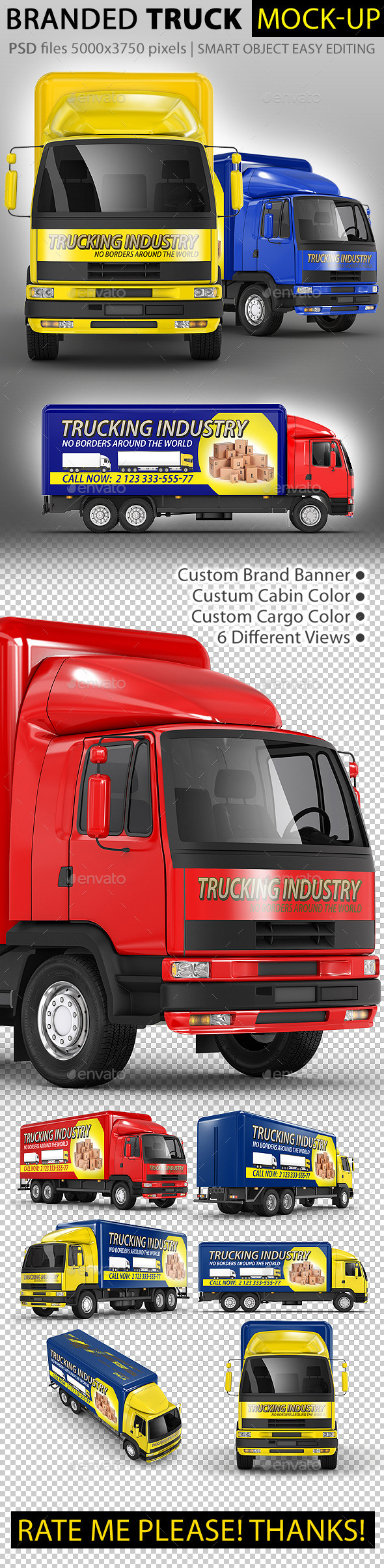 GraphicRiver Commercial Truck Carrier Mock-Up 10333432
