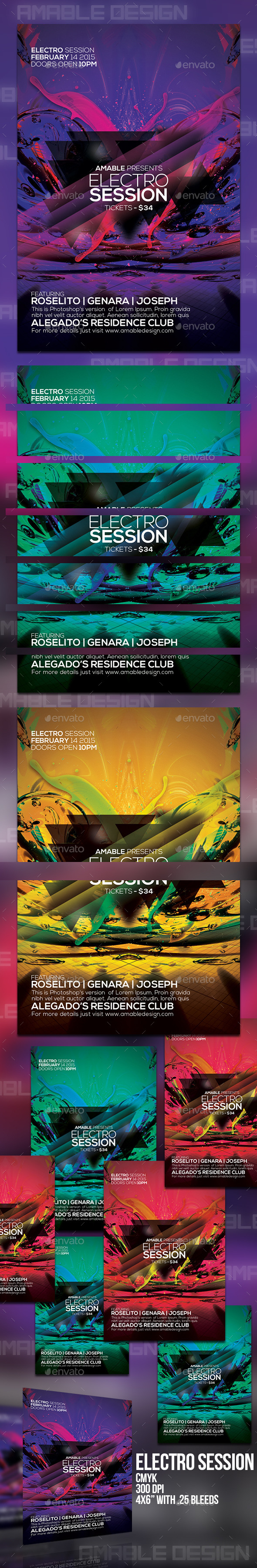 GraphicRiver Electro Session Flyer 10333545