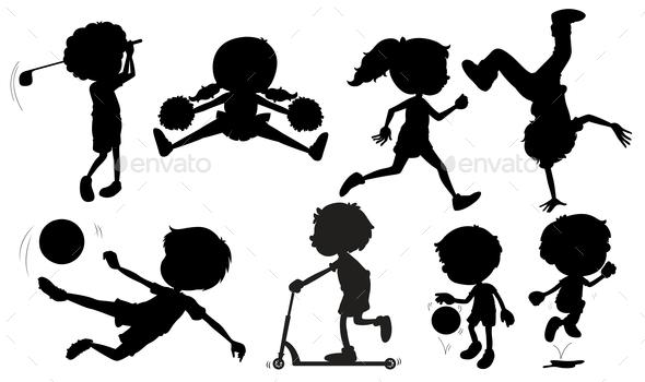 GraphicRiver Sports Silhouettes 10333878