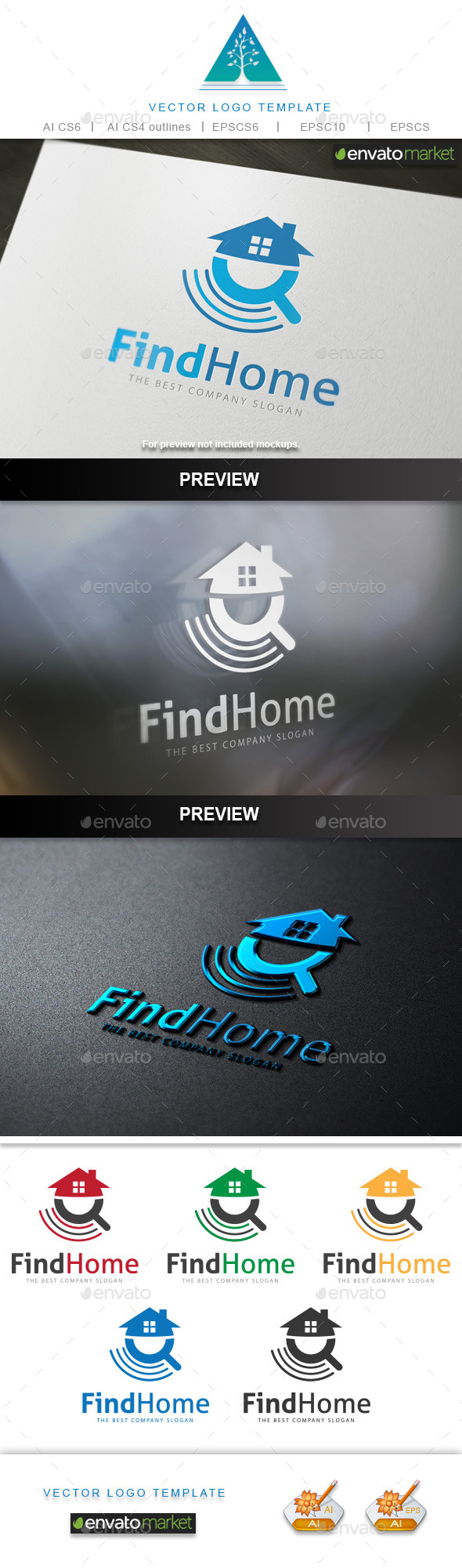 GraphicRiver Find Home Logo 10333937