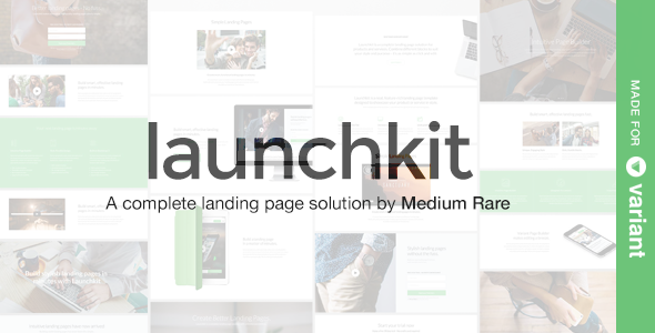 Launchkit Landing Page Template with Page Builder Download