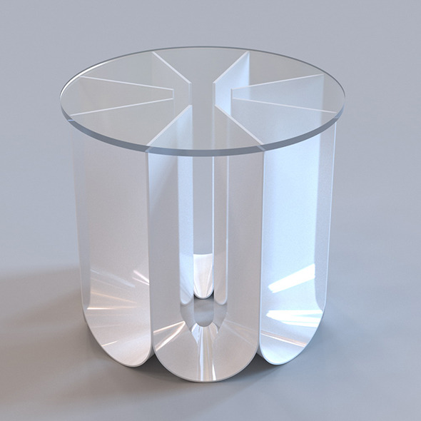 Roche Bobois - Iride end table - 3DOcean Item for Sale