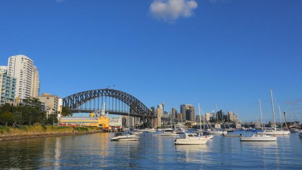 Lavender Bay and Sydney Harbour Bridge