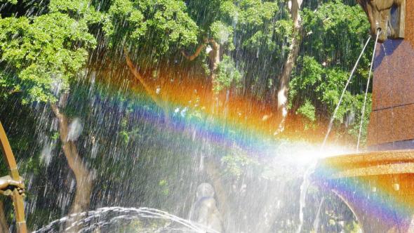 Rainbow Archibald Fountain Hyde Park Sydney