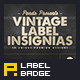 Vintage Label Insignias - GraphicRiver Item for Sale