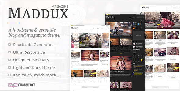 ThemeForest Maddux Responsive News Magazine & Blog Theme 10190825