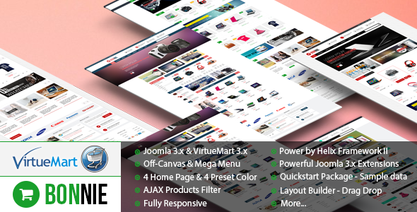 ThemeForest Vina Bonnie Multipurpose VirtueMart 3 Template 10298247