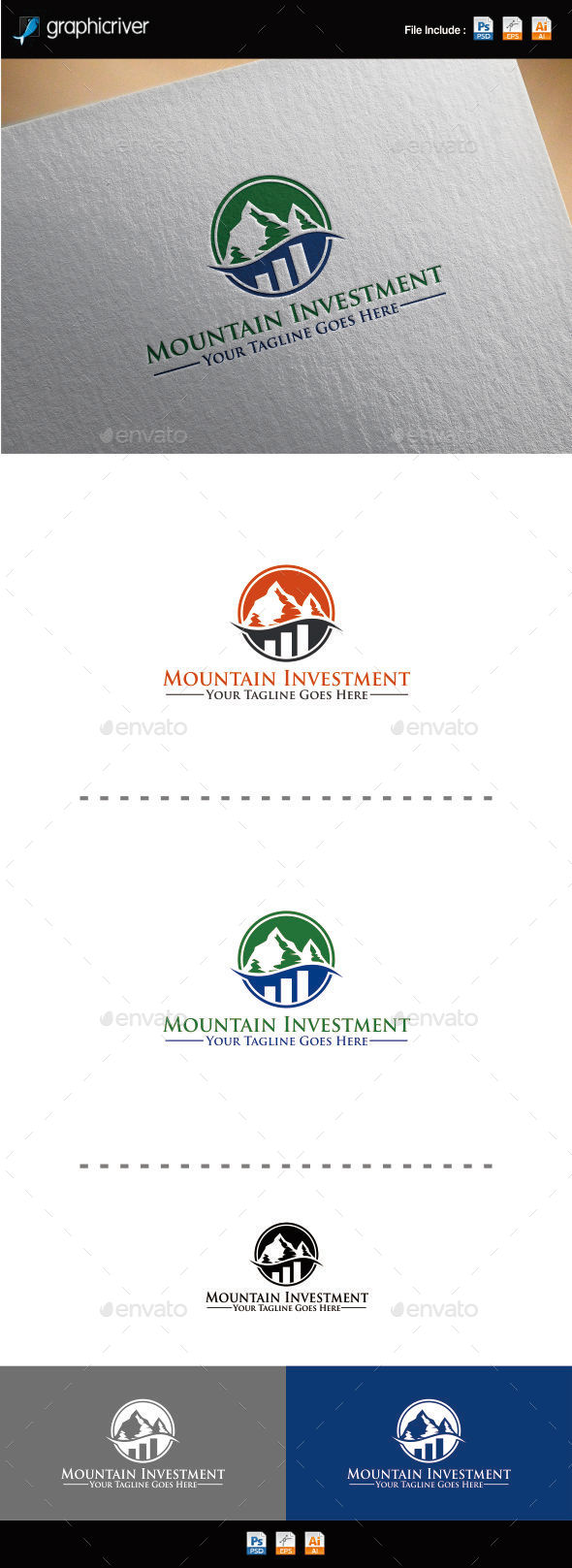 GraphicRiver Mountain Investment Logo 10334769