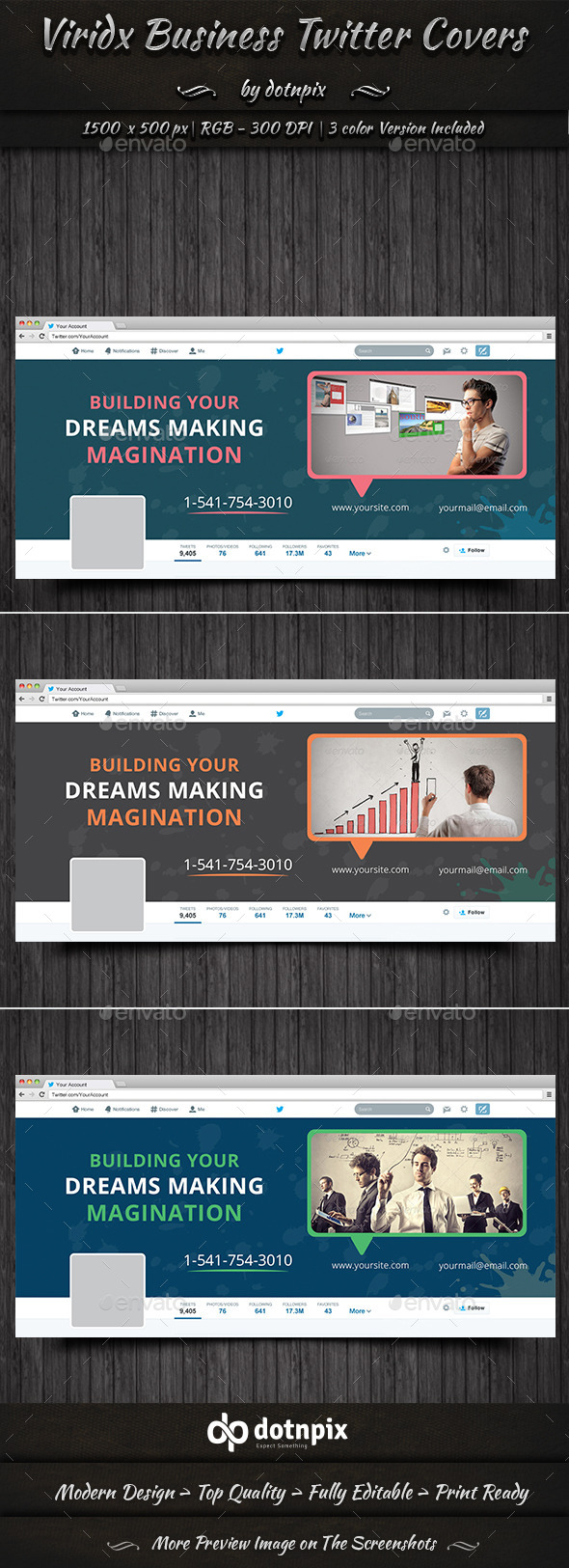 GraphicRiver Viridx Business Twitter Covers 10334846