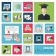 Online Education Flat Icons - GraphicRiver Item for Sale