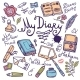 Diary Writing Instrument Set - GraphicRiver Item for Sale
