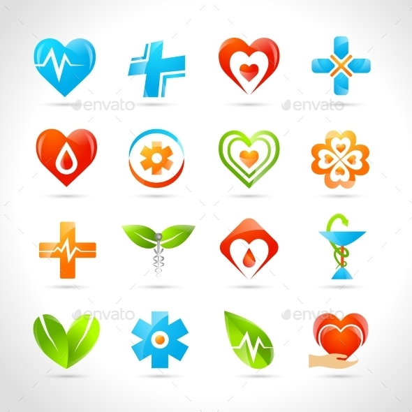 GraphicRiver Medical Logo Icons 10335017