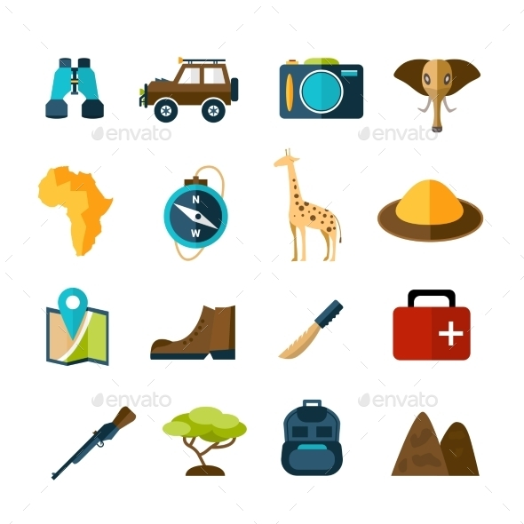 GraphicRiver Safari Icons Set 10335026