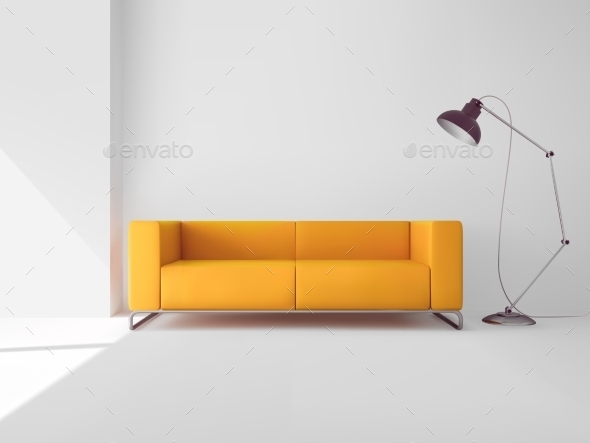 GraphicRiver Living Room with Sofa 10335093