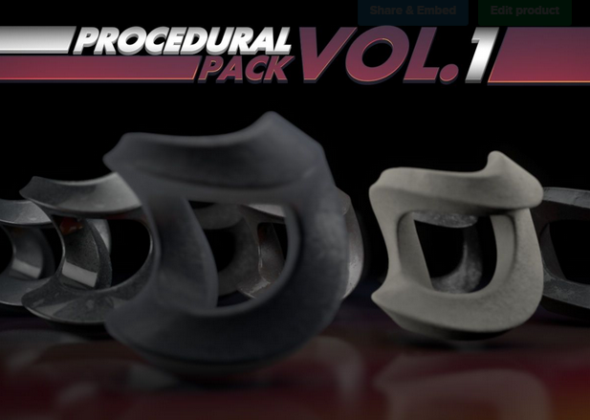 Procedural Pack Vol.1 - 3DOcean Item for Sale