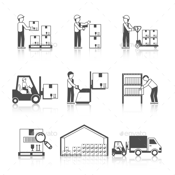 GraphicRiver Warehouse Icon Black 10335827