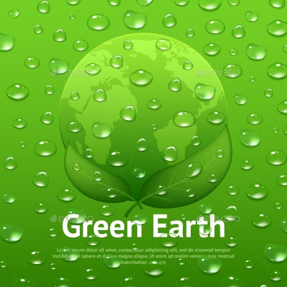 GraphicRiver Water Drops Eco Poster 10335838