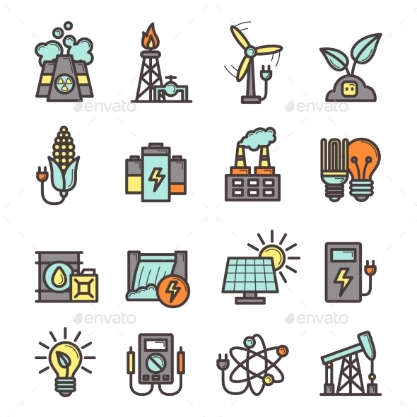 GraphicRiver Energy Icons Set 10335851