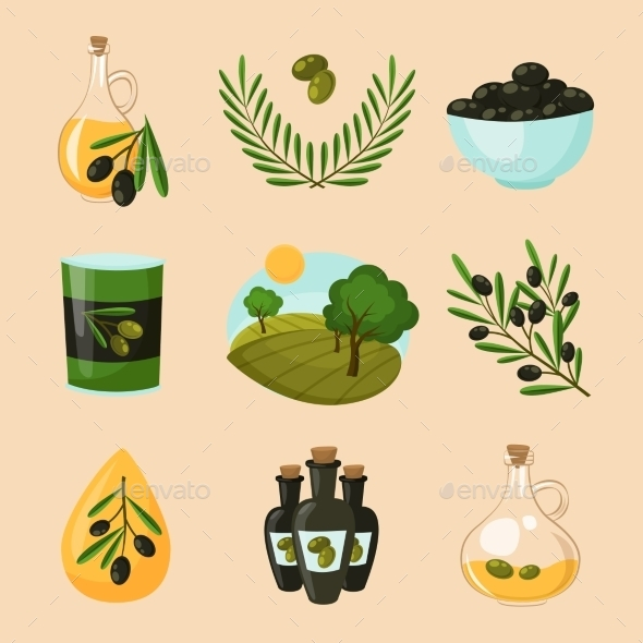 GraphicRiver Olive Icons Set 10335855