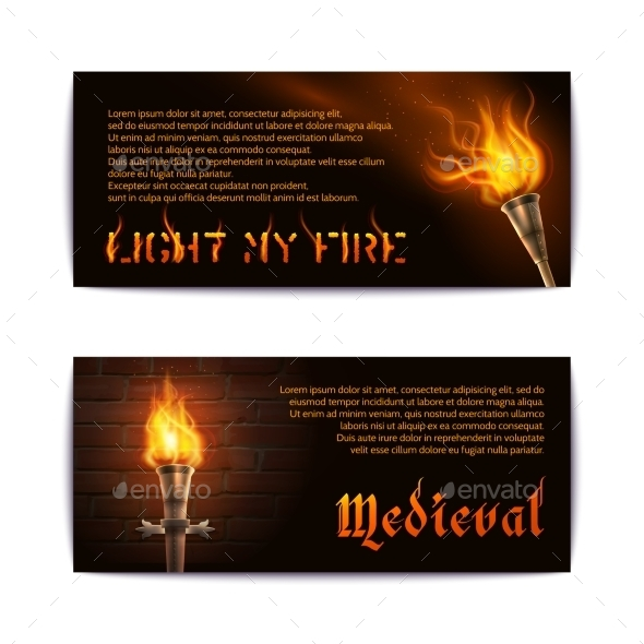 Torch Banners Set