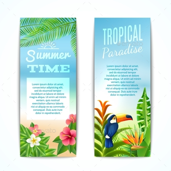 GraphicRiver Tropical Summer Banner 10335938