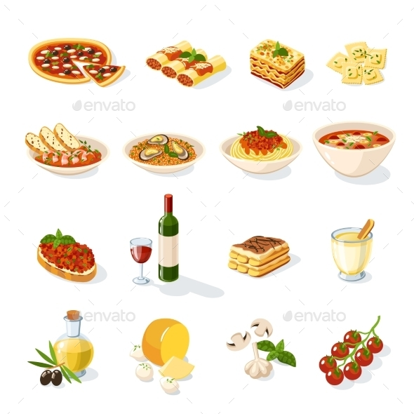 GraphicRiver Italian Food Set 10335941