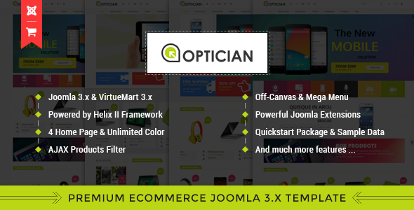 ThemeForest Vina Optician Premium eCommerce Joomla Template 10335945