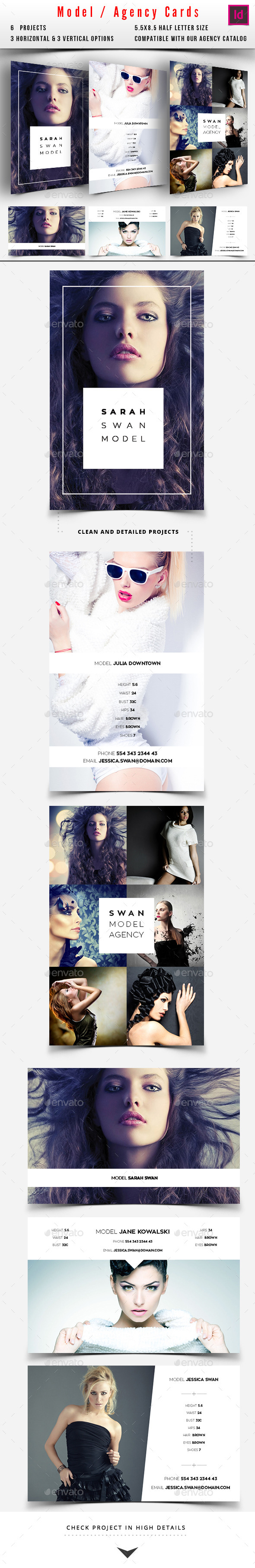 GraphicRiver Model Agency Comp Card 10335994