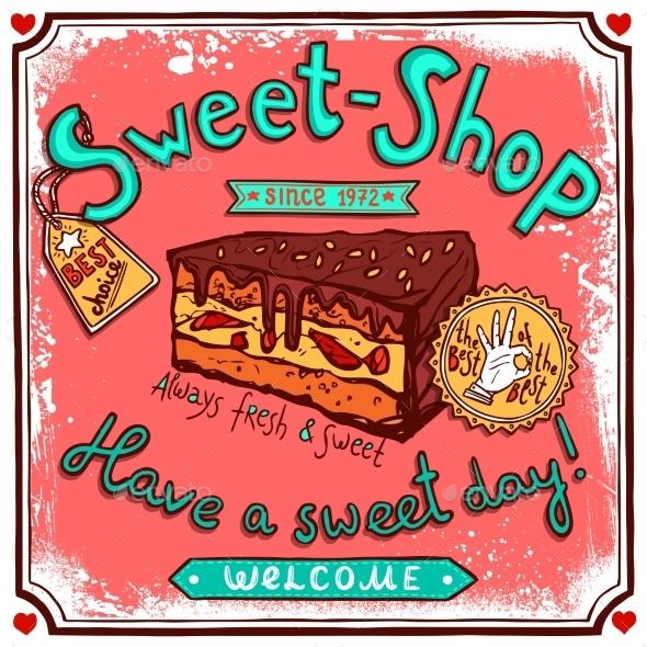 GraphicRiver Sweetshop Vintage Candy Poster 10336004