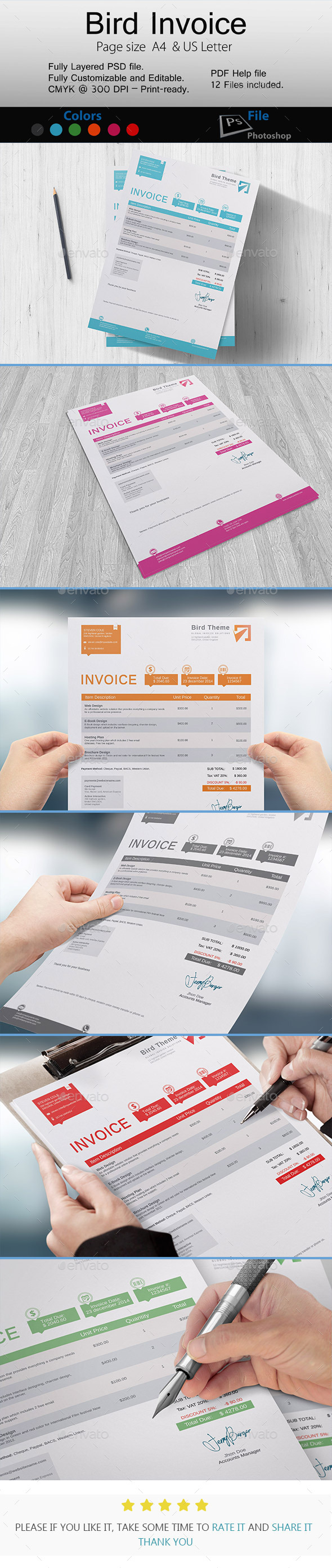 GraphicRiver Bird Invoice 10036929