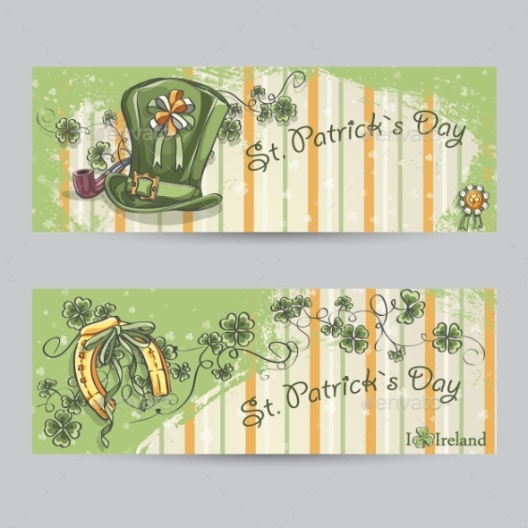 GraphicRiver Set of Horizontal Banners for St Patrick s Day 10336226