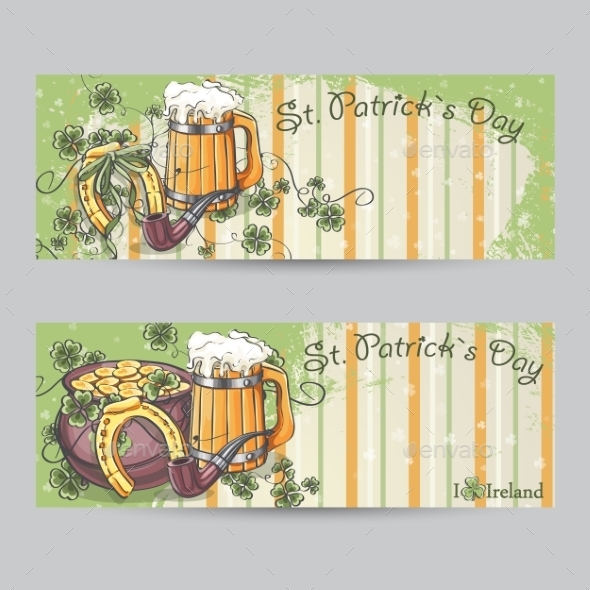 GraphicRiver Set of Horizontal Banners for St Patrick s Day 10336233