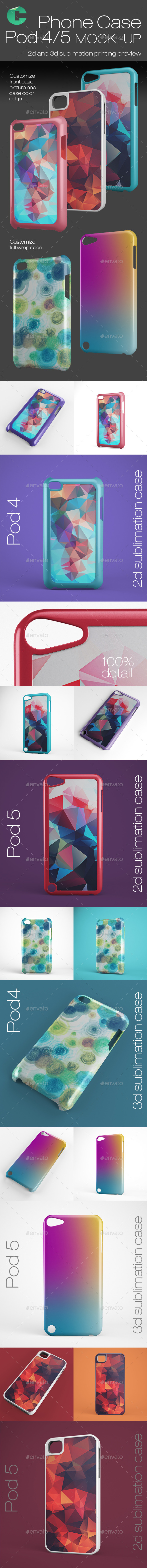 GraphicRiver Pod Case 4 5 Mock-ups 10336247