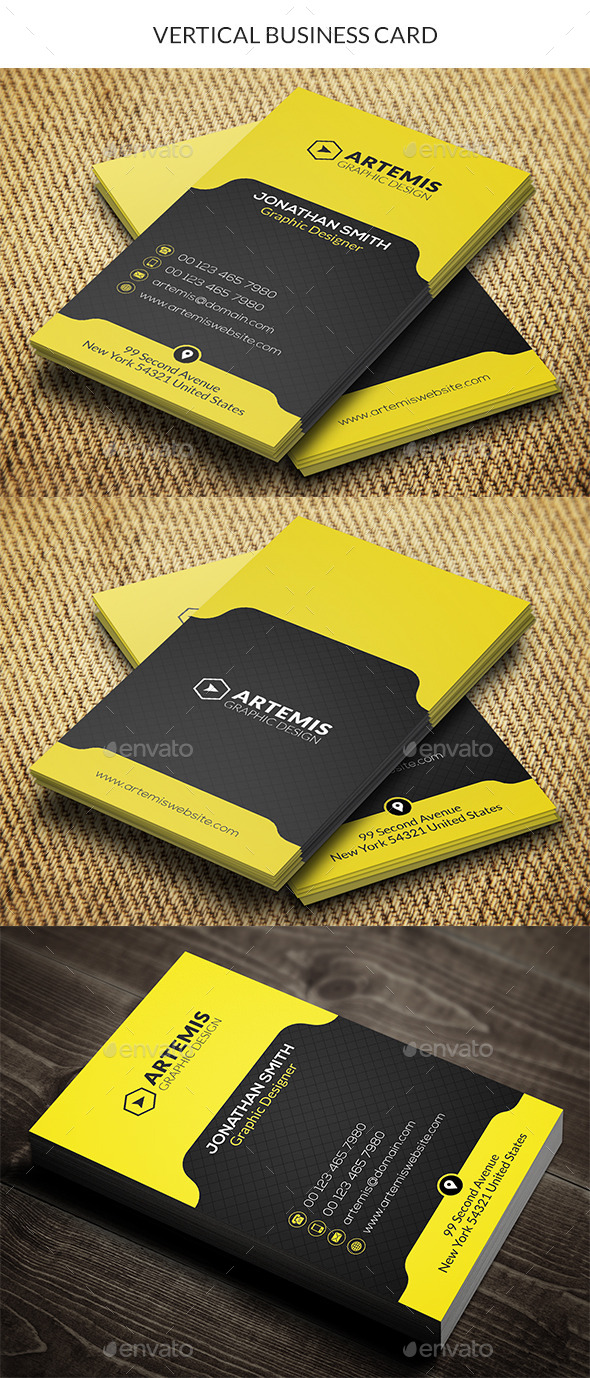 GraphicRiver Vertical Business Card 10336258