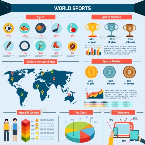 GraphicRiver Sports Infographics Set 10336295