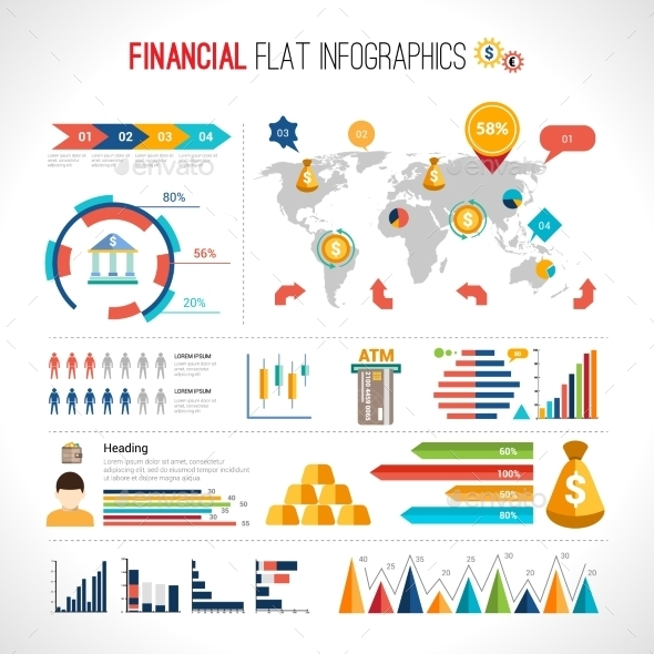 GraphicRiver Finance flat infographic 10336296