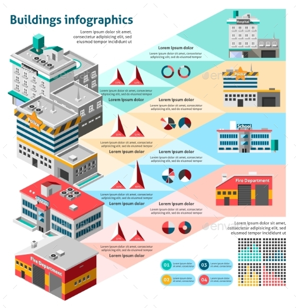 GraphicRiver Buildings Infographics Set 10336300