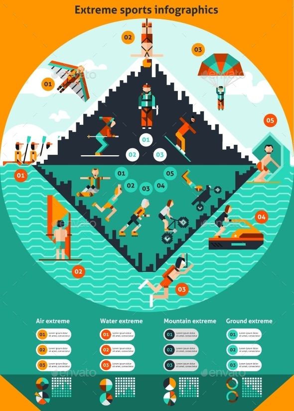 GraphicRiver Extreme Sports Infographics 10336301