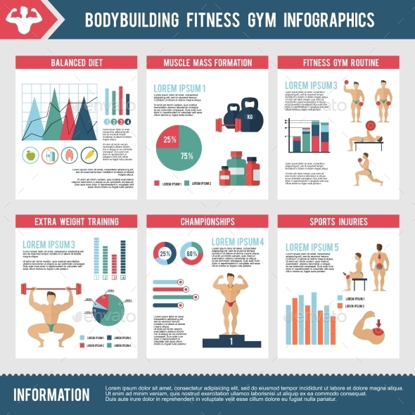 GraphicRiver Bodybuilding Fitness Gym Infographics 10336303