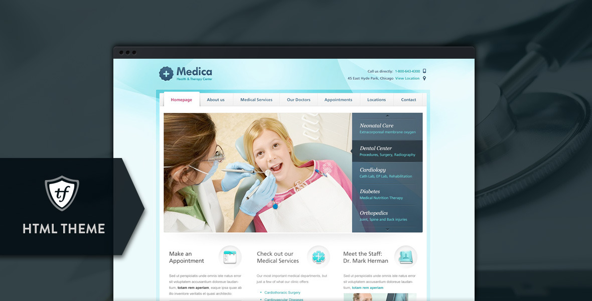 Medica - Doctor, Dentist & Health Clinics
