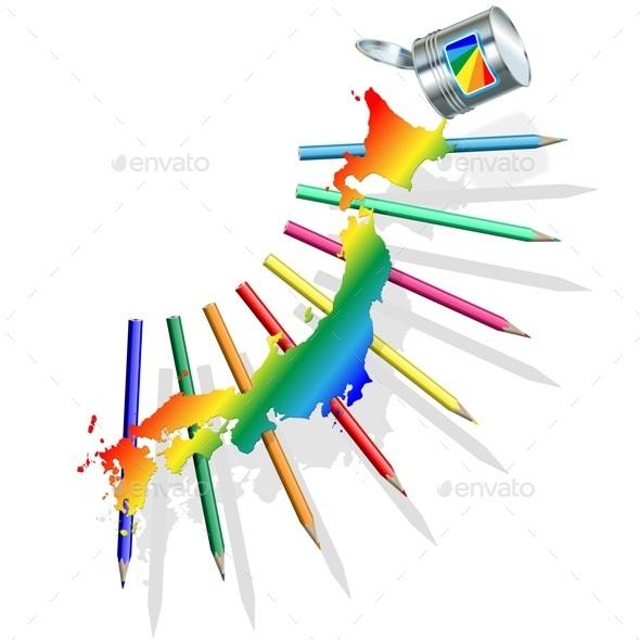 GraphicRiver Japan Paint Concept 10336346