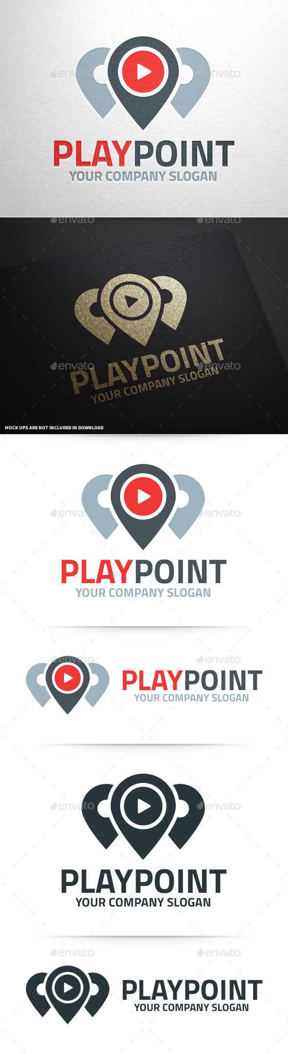 GraphicRiver Play Point Logo Template 10336378