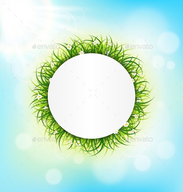 GraphicRiver Circle Frame with Green Grass 10336459