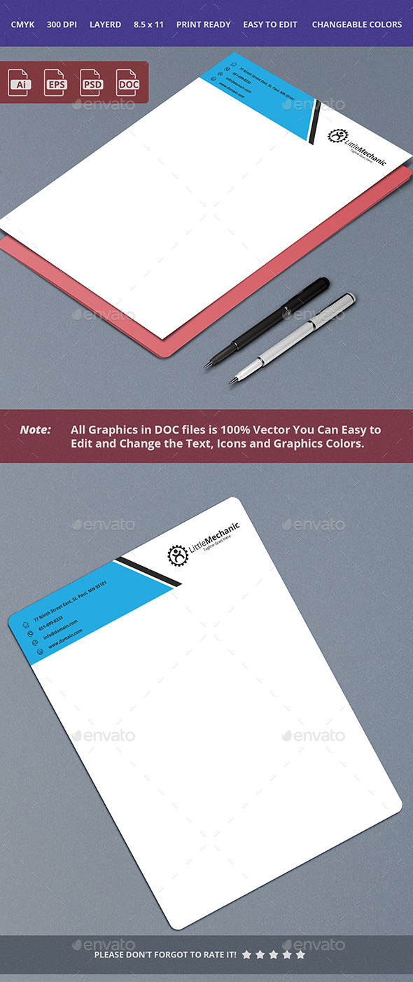 GraphicRiver Letterhead Design 13 10336710