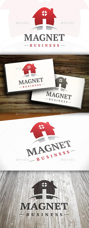 GraphicRiver Magnet House Logo 10336741