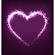 Sparkling Heart on Violet Background - GraphicRiver Item for Sale