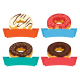Four Donuts with Frames for Text Isolated on White - GraphicRiver Item for Sale